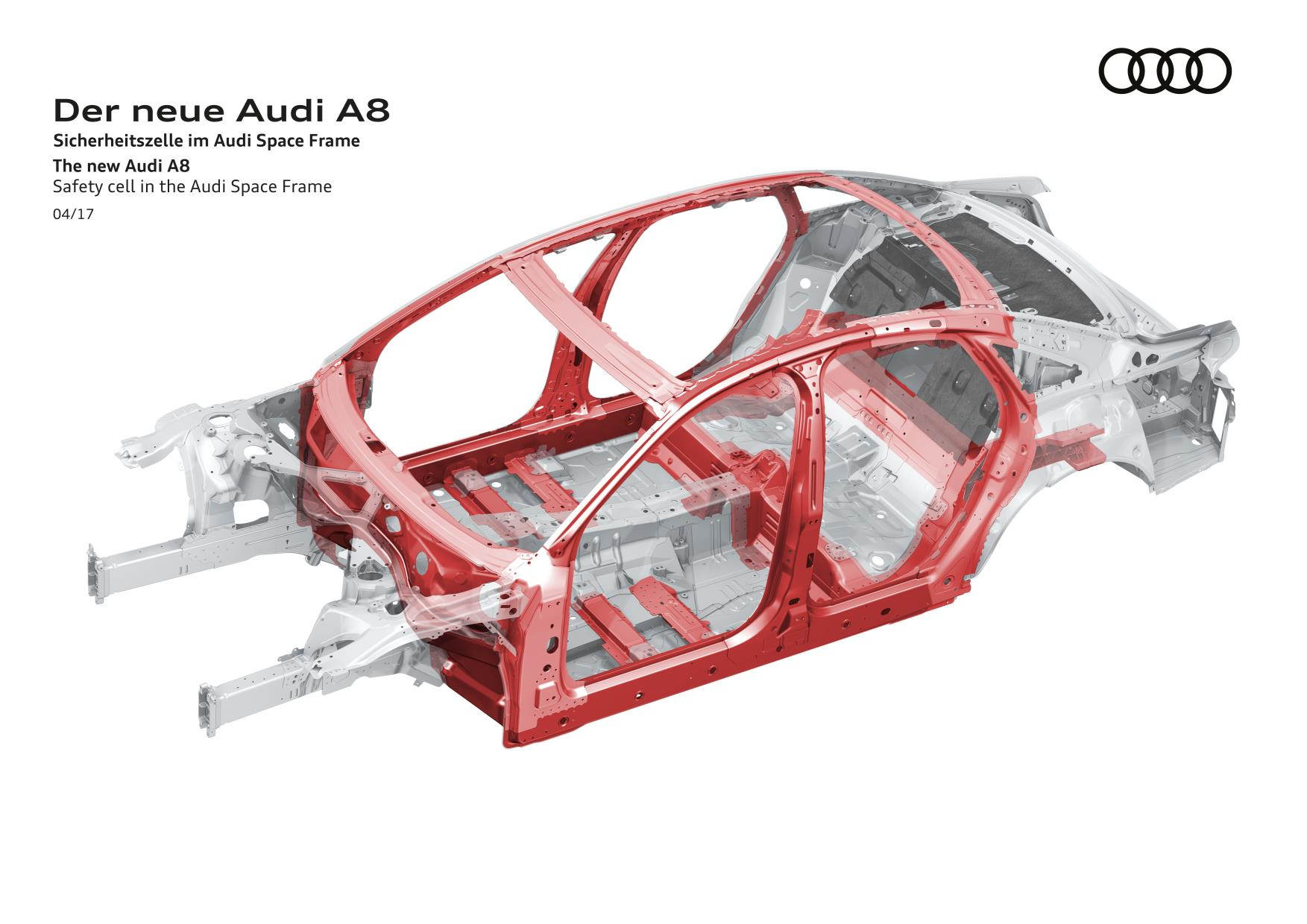 Nueva carrocería para el AUDI A8 denominada Space Frame