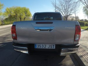 A bordo del Toyota Hilux de Doble Cabina