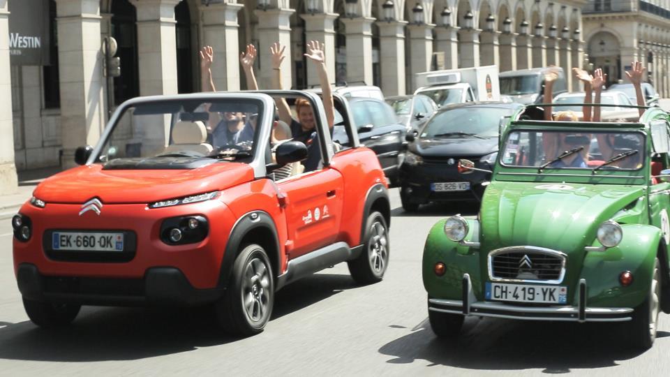 Descubrir París con el Citroën e-Mehari