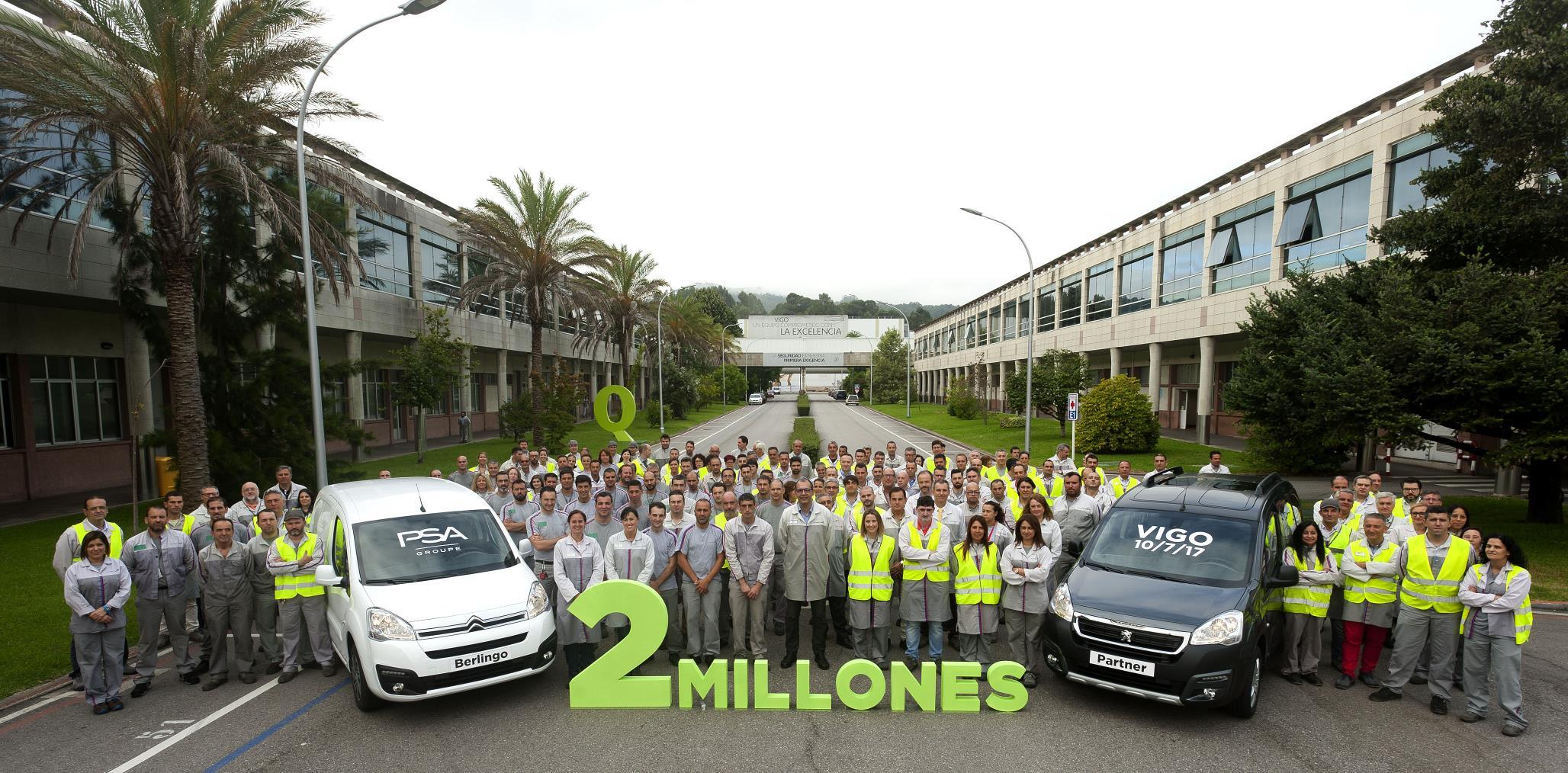 2 millones de Citroën Berlingo y Peugeot Partner
