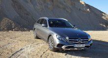 Al volante del Mercedes Clase E All Terrain