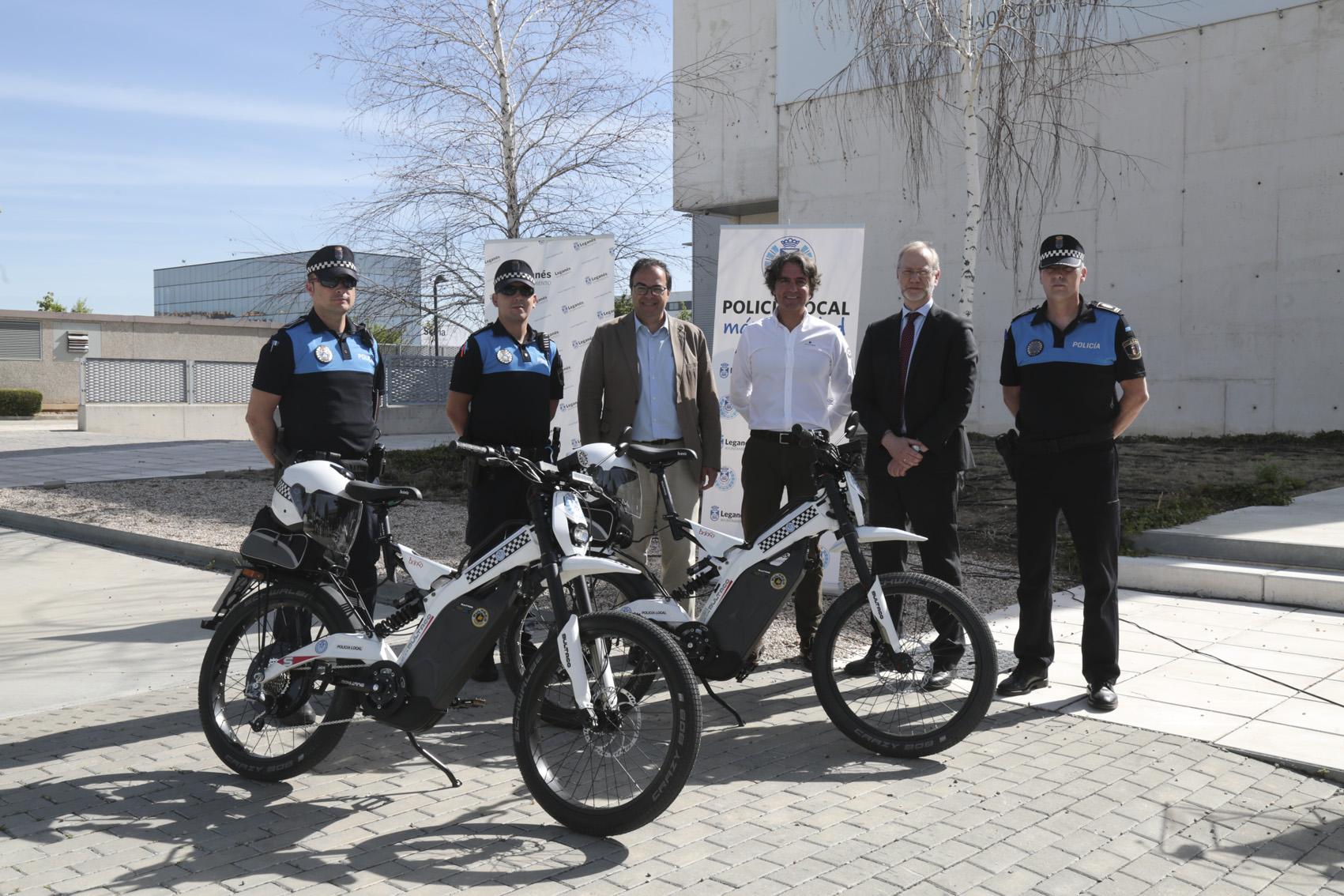 La Policia Local de Leganés va en Bultaco