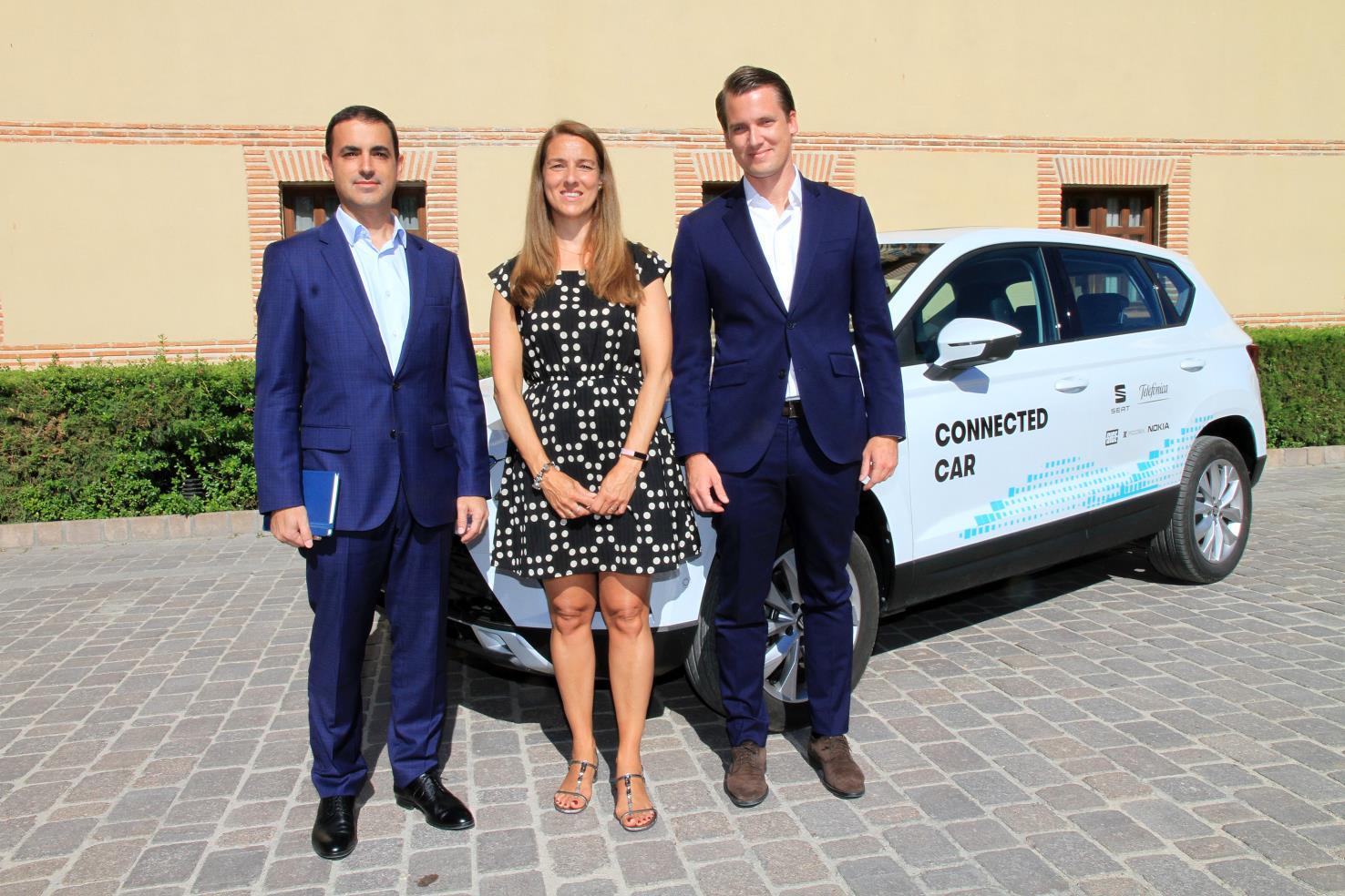 Telefónica y SEAT han presentado hoy el primer caso de uso dentro del marco del proyecto Ciudades Tecnológicas 5G en Segovia