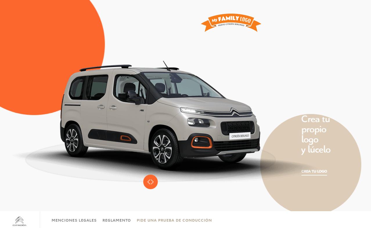 Crea tu logo con el Citroën Berlingo