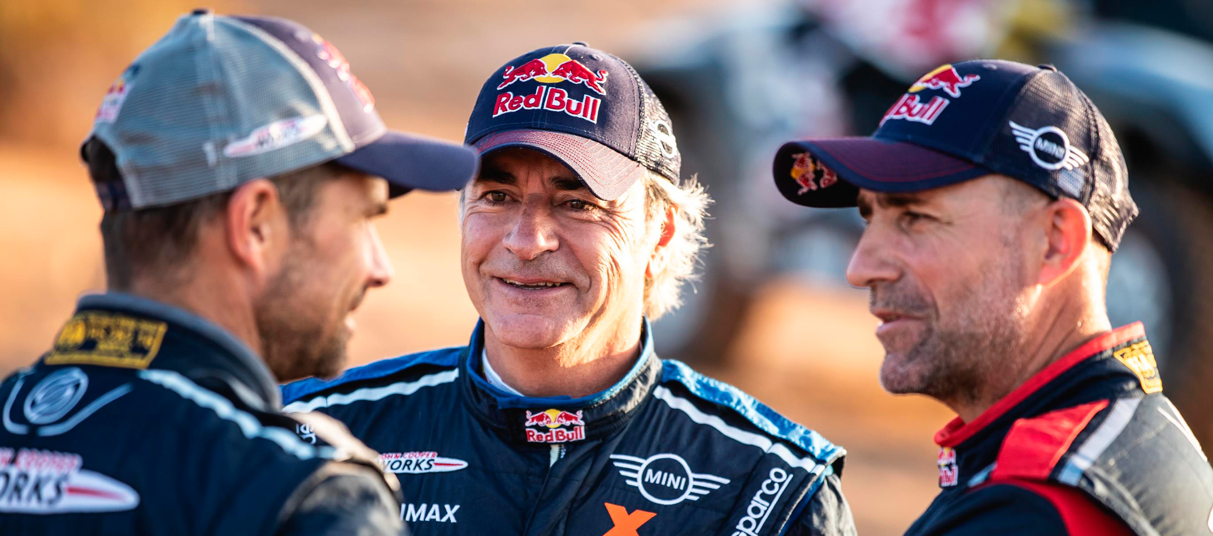 Carlos Sain antes de partir para el Dakar 2019