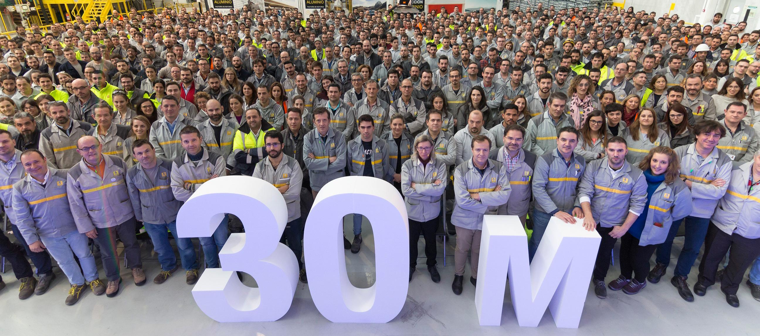 La factoría de Motores de Valladolid ha producido la unidad 30 millones