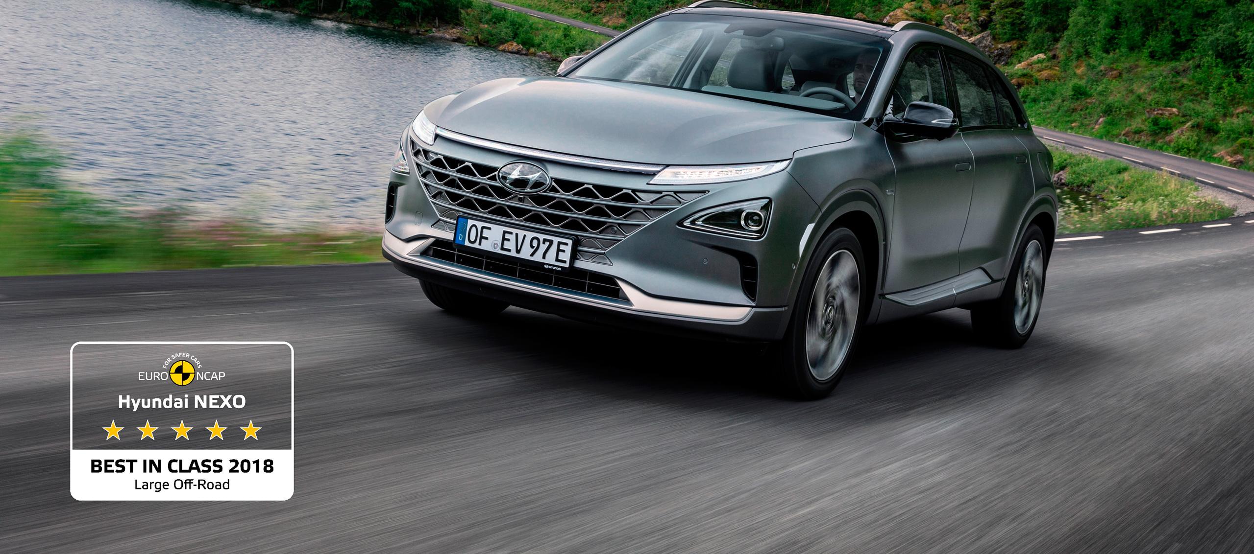 Hyundai NEXO galardonado como el Mejor de su categoría en EuroNCAP