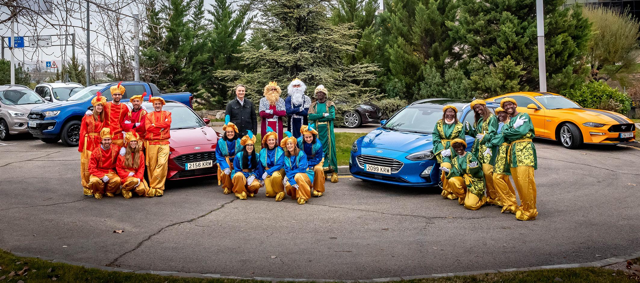 Ford acerca a los Reyes Magos a la Fundación Bobath