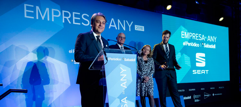 SEAT ha sido galardonada con el premio 'Empresa del Año 2018'