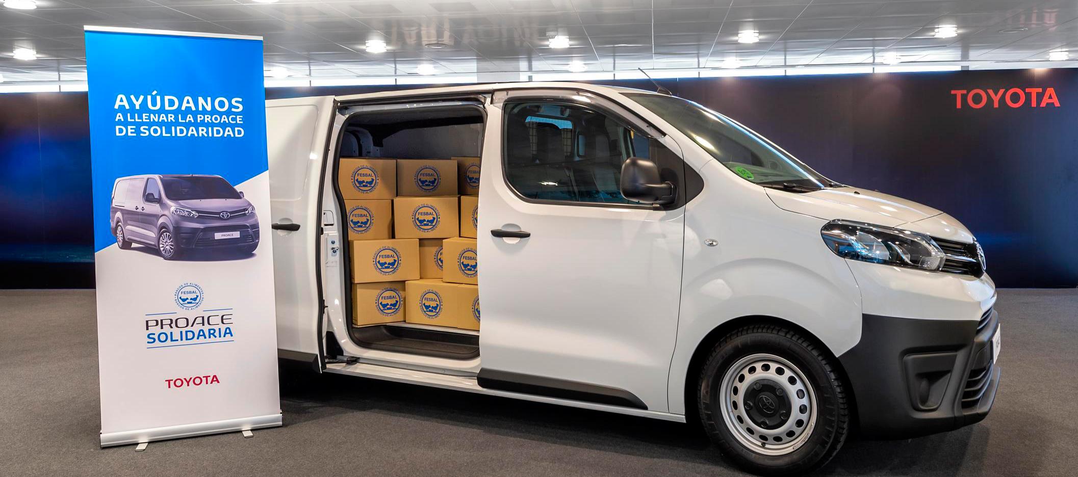 Los Concesionarios de Toyota recogen más de 10 toneladas de alimentos