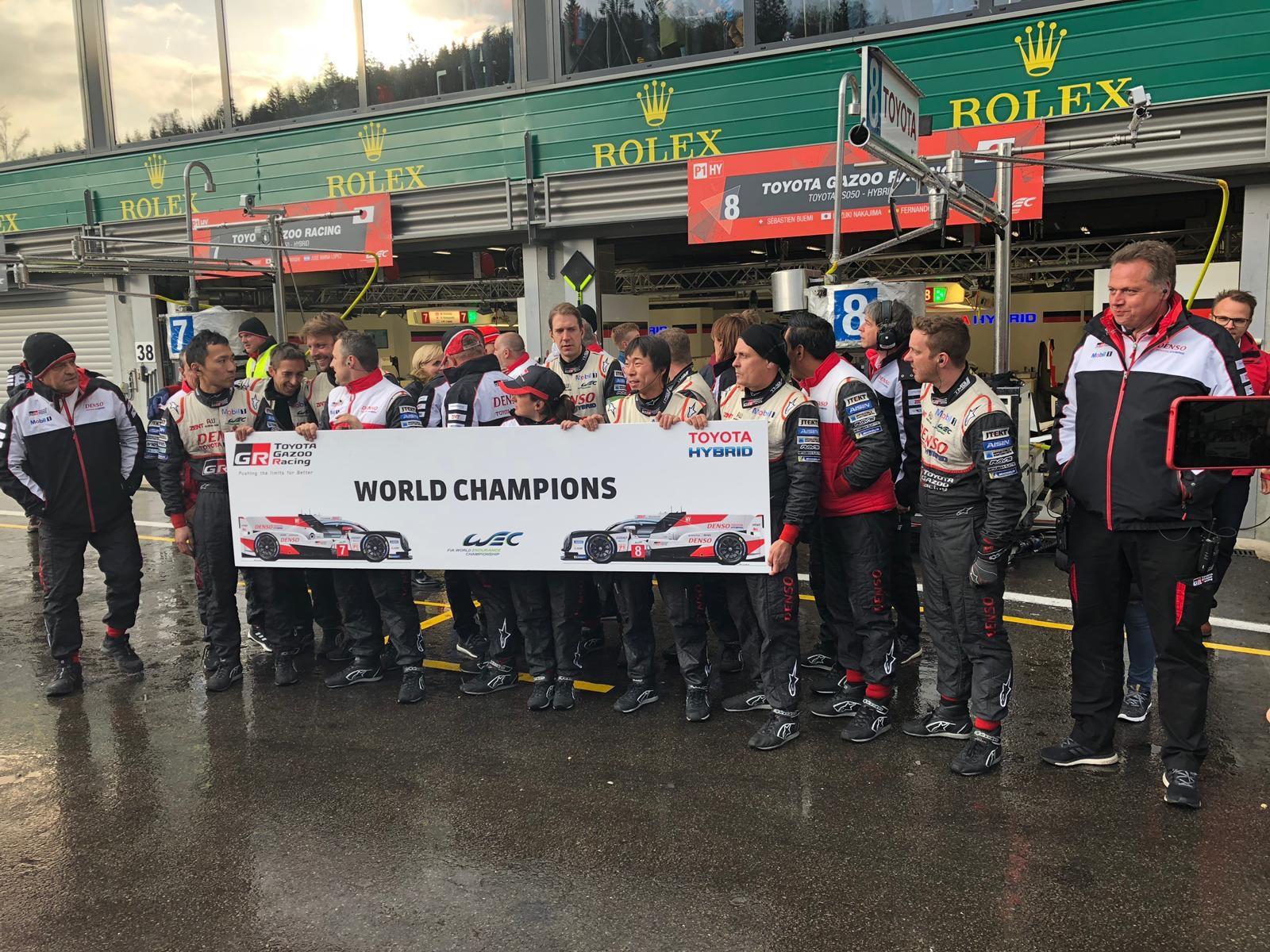 TOYOTA GAZOO Racing gana el título de constructores WEC