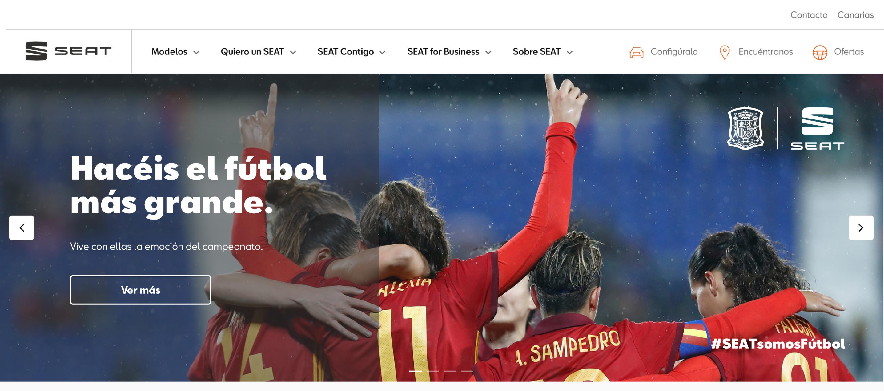 La Selección Femenina de Fútbol protagonista del anuncio de SEAT