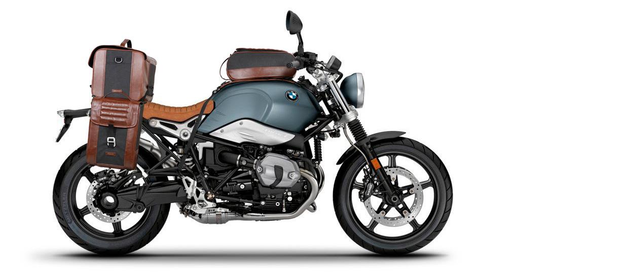 BMW R Nine T con nueva colección de bolsas SR Café Racer
