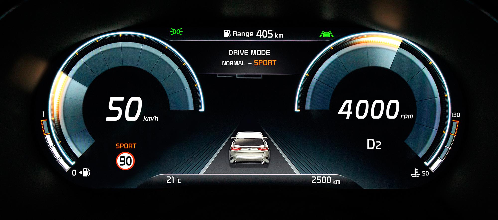 Premier Kia XCeed, nueva instrumentación digital
