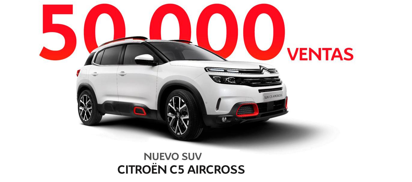 Citroën C5 Aircross supera las 50.000 unidades vendidas