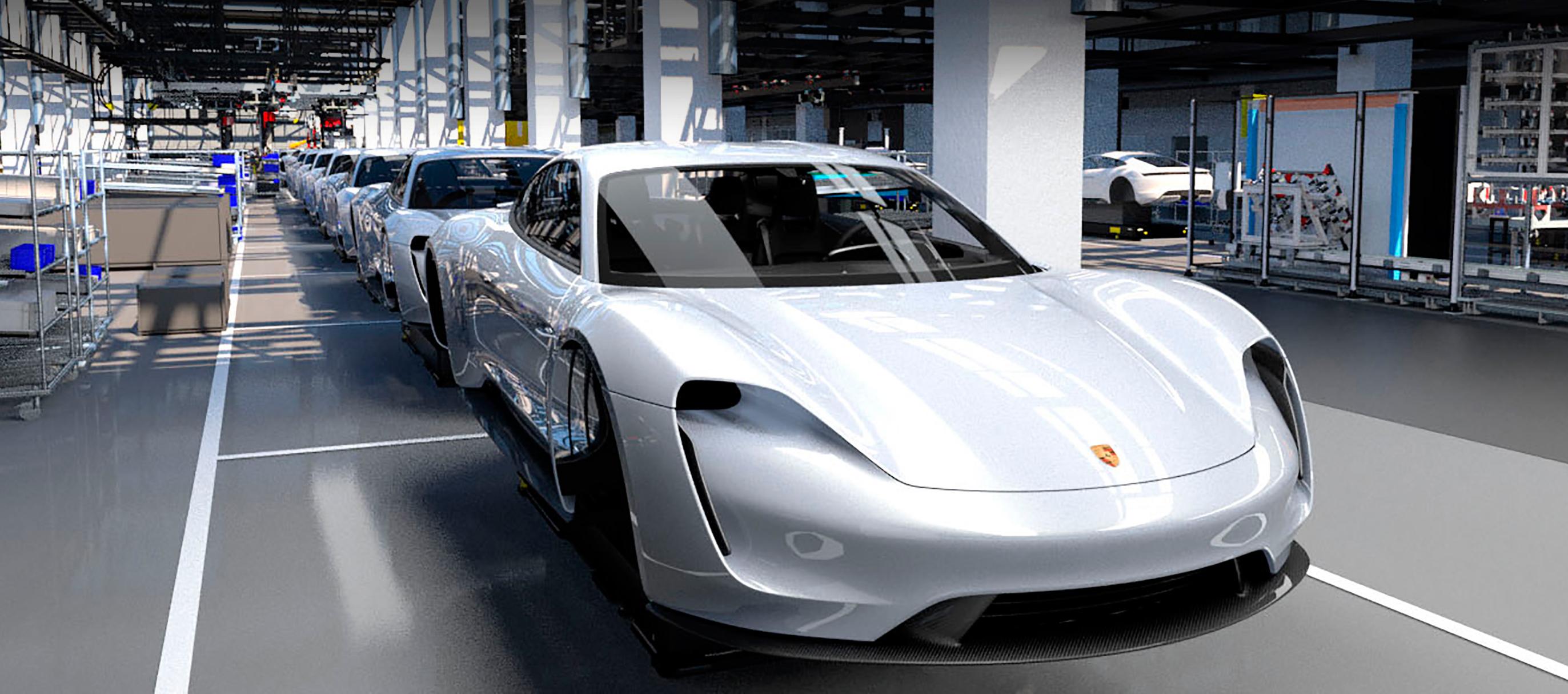 Proceso de producción del Porsche Taycan