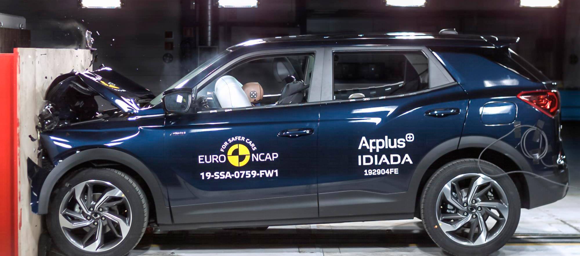 Ssangyong Korando 5 Estrellas en seguridad Euro NCAP