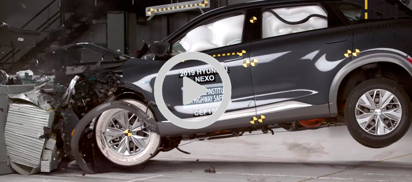 El Hyundai NEXO en el Insurance Institute for Highway Safety