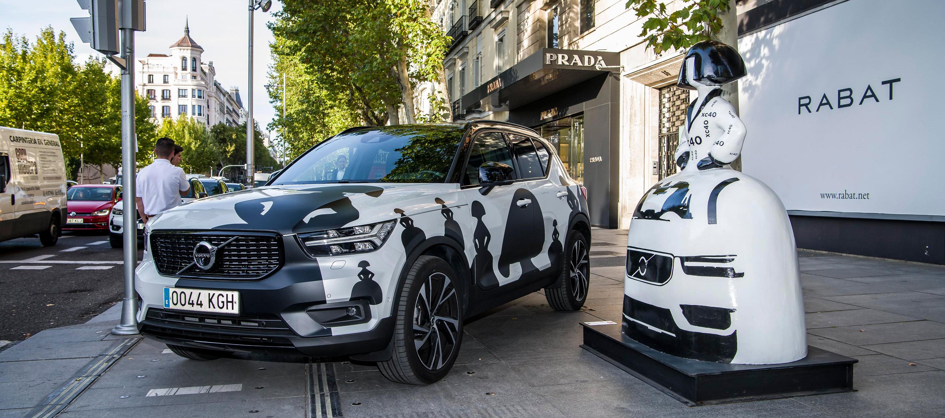 Volvo XC40 y las Meninas crean un Museo ambulante en Madrid