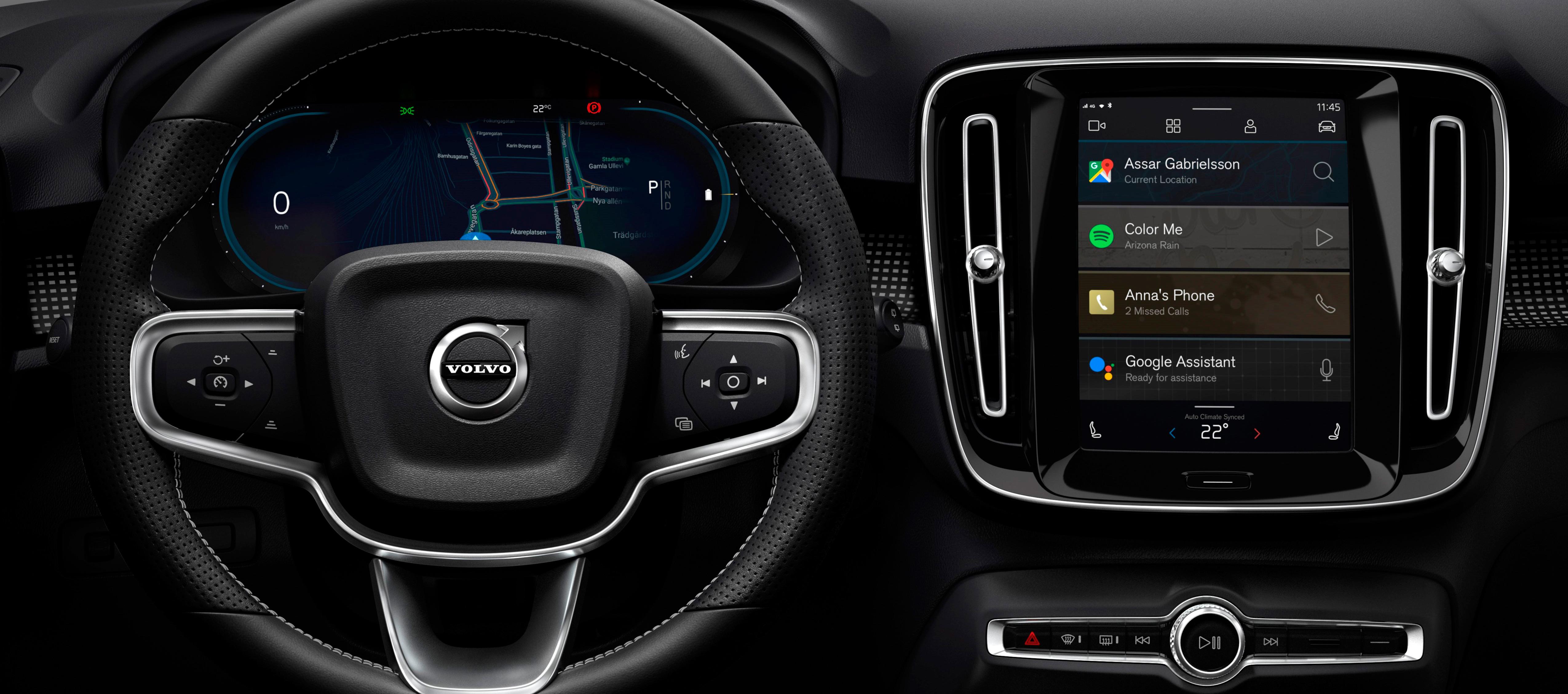 Nuevo sistema de infoentretenimiento en el Volvo XC40