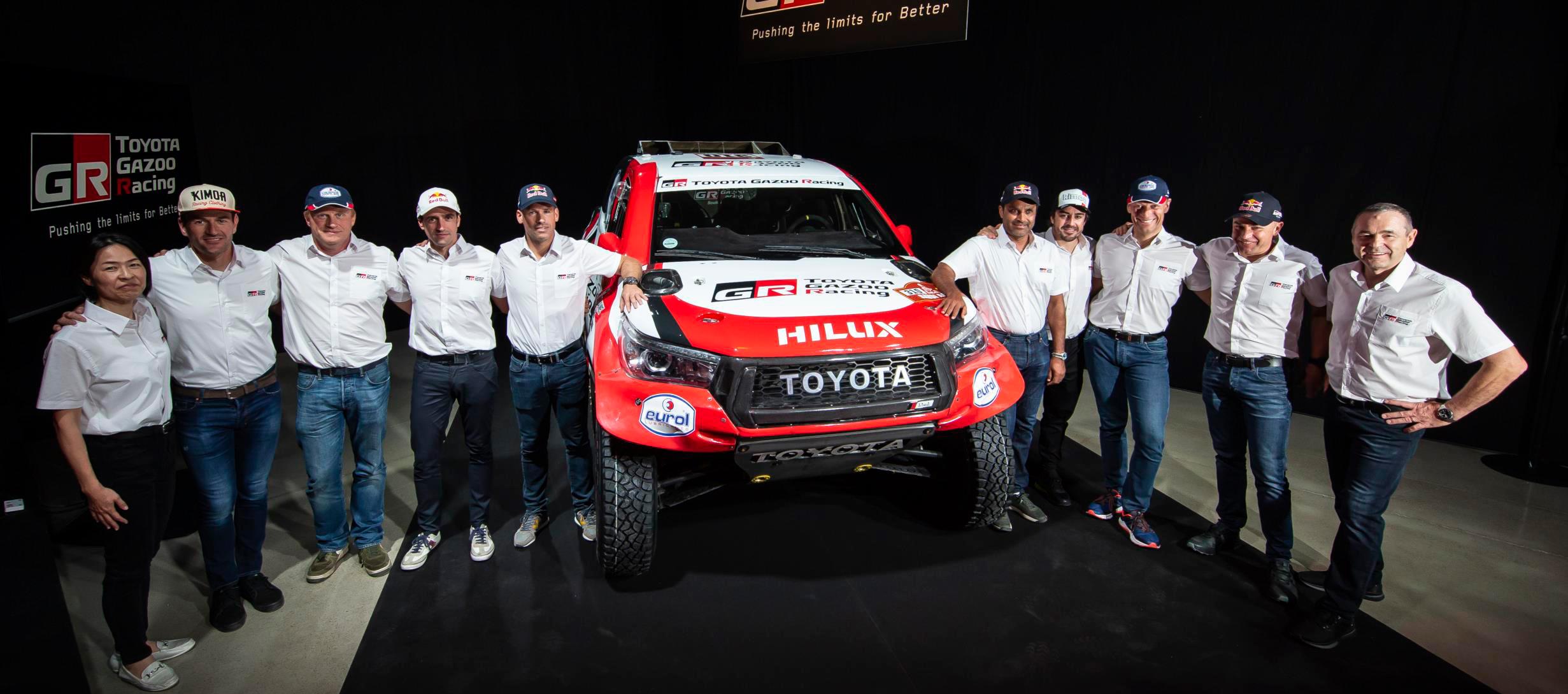 Toyota Gazoo Racing presenta su equipo para el Dakar 2020
