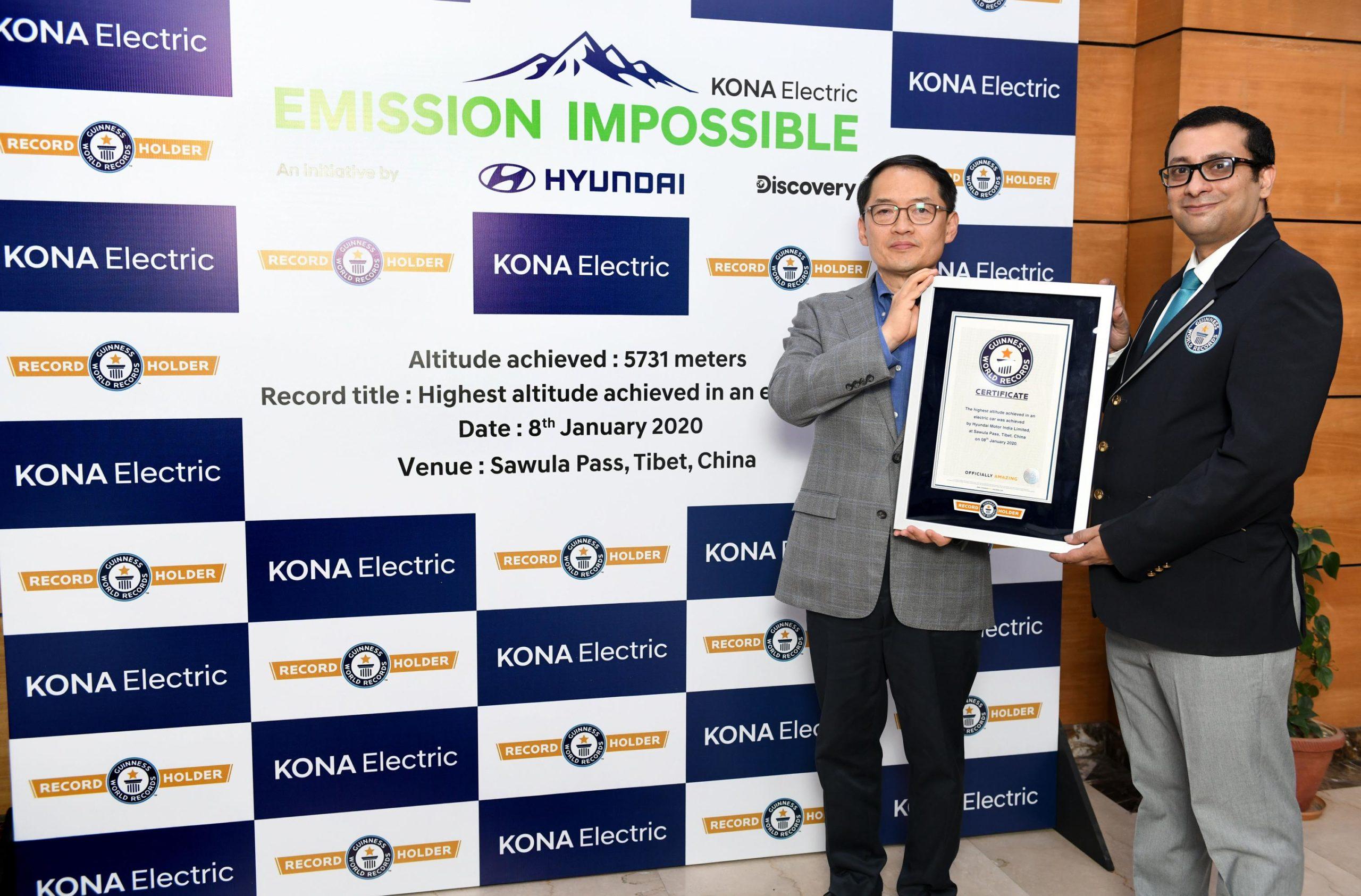 Hyundai Kona, de Récord Guinness