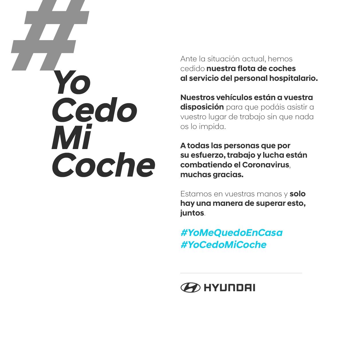 #YoCedoMiCoche la acción solidaria de Hyundai