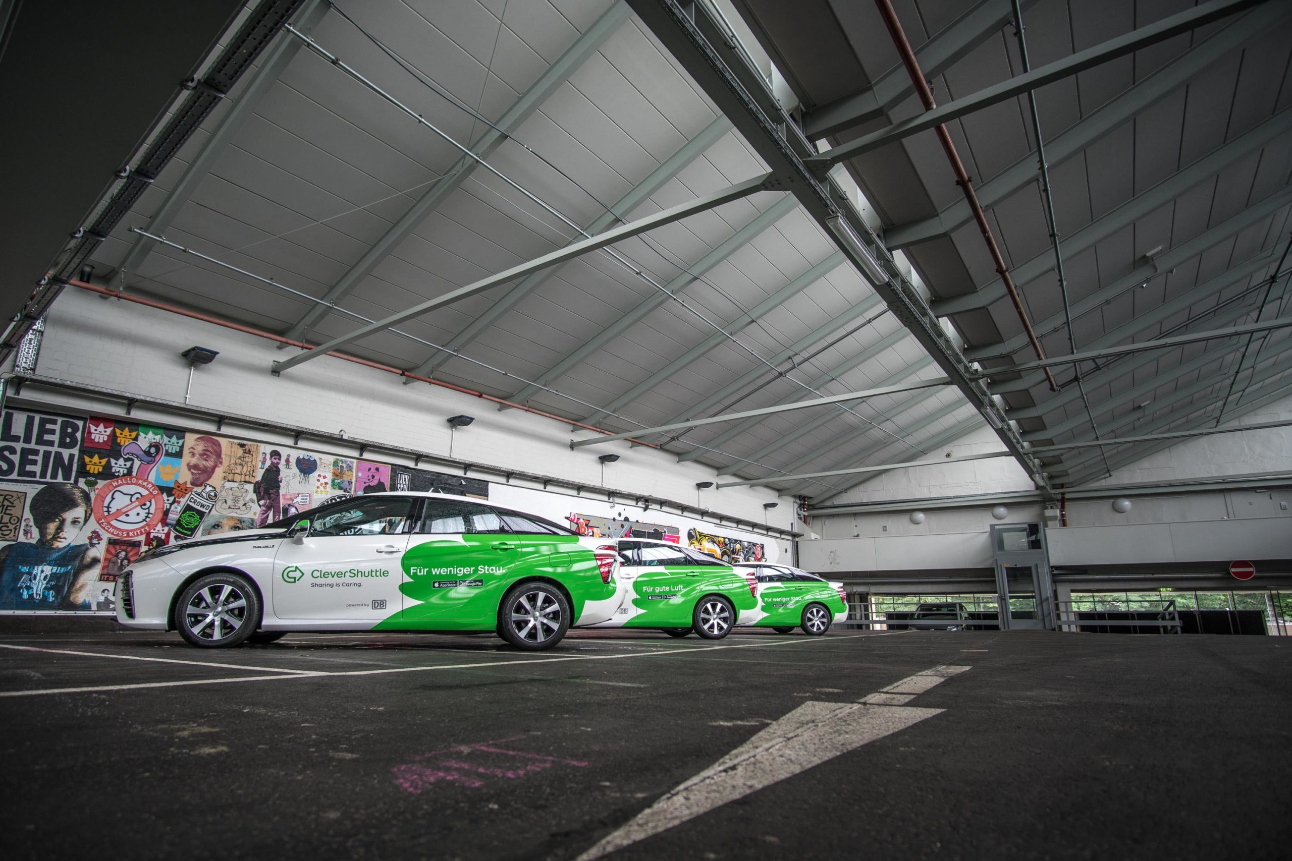 La flota de Toyota Mirai de CleverShuttle ha recorrido 5 Mill. de km