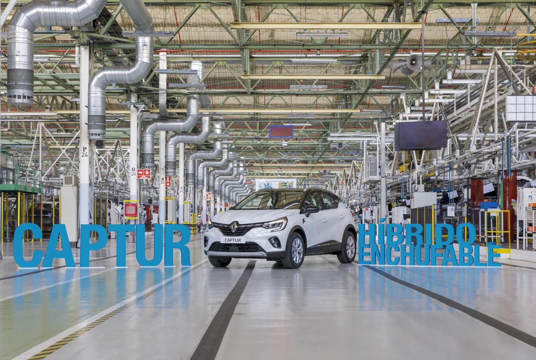 La fábrica de Valladolid empieza a producir el Captur PHEV