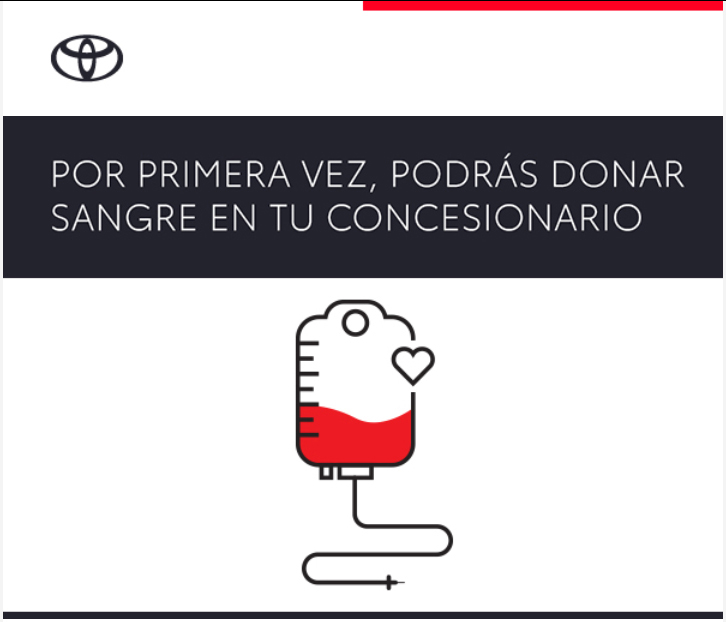 Toyota y su innovadora acción de donación de sangre en un concesionario
