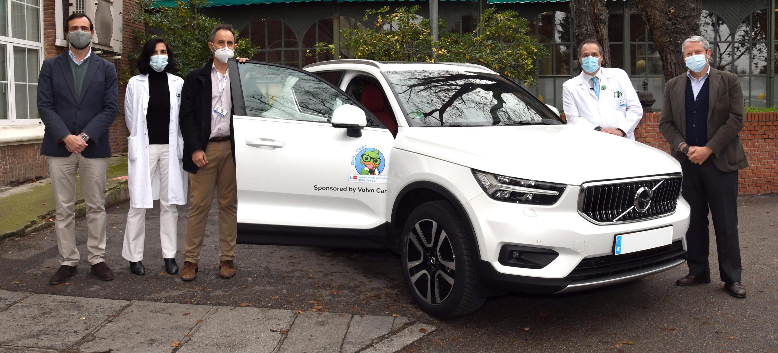 Volvo cede al Hospital Niño Jesús un Volvo XC40, para que los sanitarios realicen desplazamientos domiciliarios