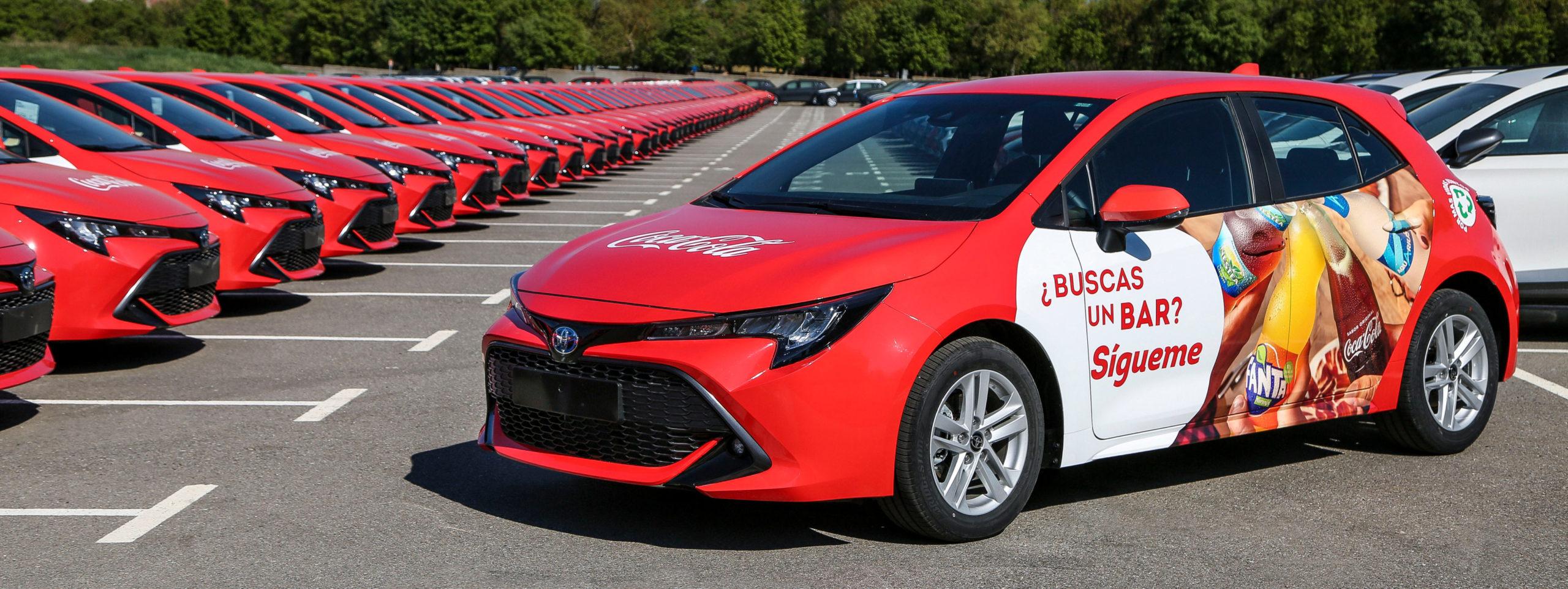 Toyota España ha hecho entrega de 115 vehículos híbridos eléctricos a Coca-Cola European Partners Iberia
