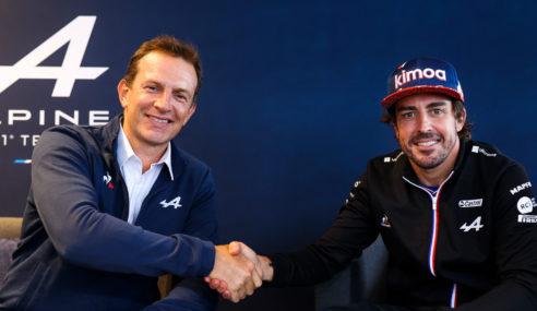 Fernando Alonso amplia su vinculación con Alpine F1 hasta 2022